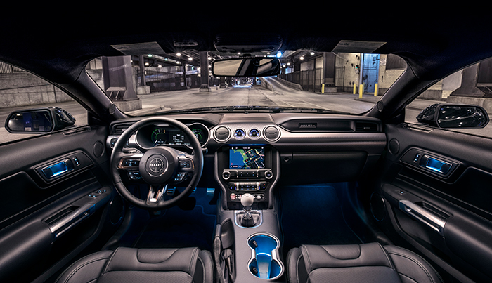 The interior of the 2019 Mustang Bullitt.