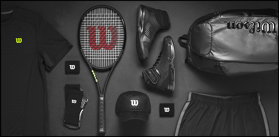 wilson tennis  u201cblack edition u201d  u2013 man and gear