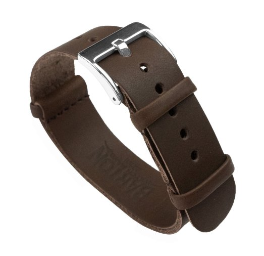 BARTON Leather NATO Style Watch Strap