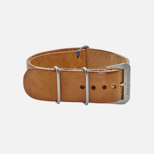 Hodinkee Beige Leather NATO Watch Strap