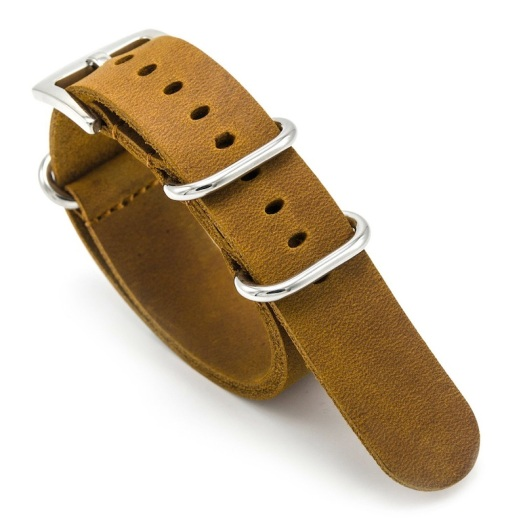 CIVO Leather Watch Bands Handmade NATO Zulu Military Swiss G10 Style Strap