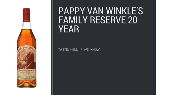 Pappy Van Winkle's Family Reserve 20 Year Best Bourbon