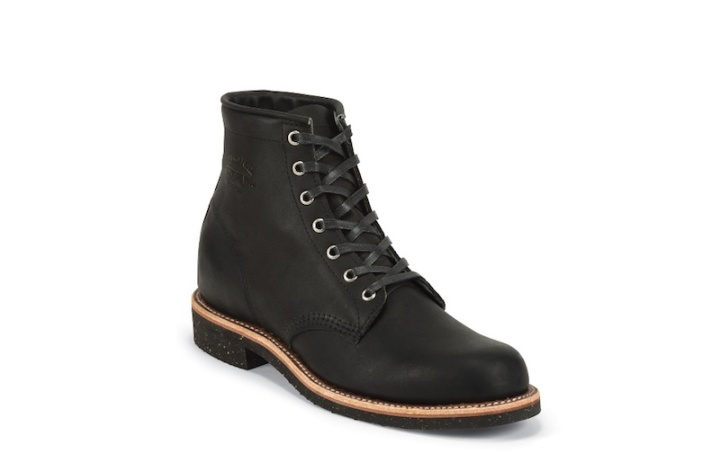 Chippewa Aldrich Black (Work boots made in the USA, American-made.)